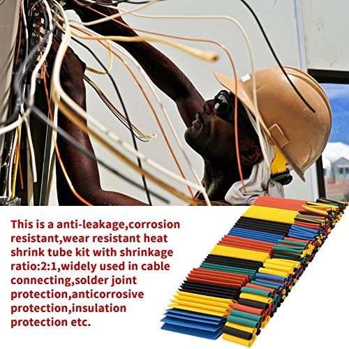 328-tlg. Schrumpfschlauch-Rohrdraht-Isolations-Schlauchsatz Auto Elektrisch schrumpfbares Kabelwickelset Verschiedene Polyolefin-Mehrfarben