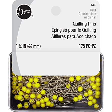 Dritz 3005 Quilting Pins, 1-3/4-Inch, Yellow (175-Count)