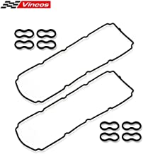 Valve Cover Gasket Set VS50476R Replacement for Chrysler/Dodge/Jeep 2003-2014 5.7L 6.4L HEMI, Replacement for Chrysler 300 2005-2009 6.1L V8, Replacement for Dodge Durango 2004-2005 5.7L V8 VIN D W