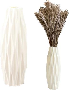 Vase Décoratif Salon Incassable Vase Unique en Plastique Incassable Incassable Vase à Fleurs Bureau Vase Antichute pour Intér