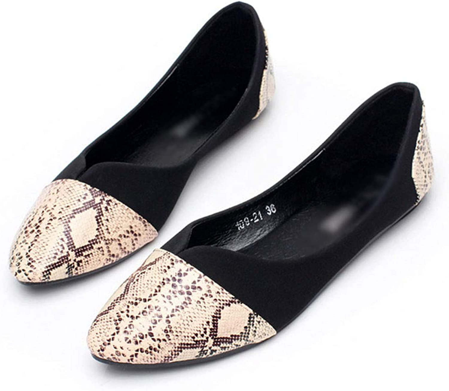 Kyle Walsh Pa Women Stylish Flats shoes Snake Print Slip-on Ladies Fashion Soft Moccasins
