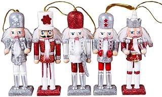 Prosaice Powder Nutcracker Soldier Christmas Tree Pendant Gift Puppet Wooden Crafts