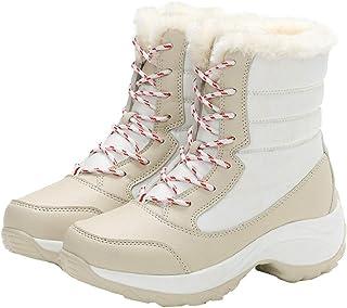 CSSD 冬用 レディース ノンスリップシューズ アンクルプラットフォーム スノーブーツ 厚手 暖かいブーツ