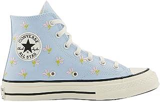 Converse All Star Hi 70s Baskets - Bleu - Chambray bleu brodé fleurs aigrettes noires, 37 EU