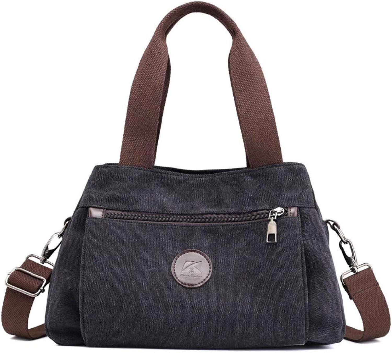 1a4d15365 Shoulder Canvas Retro Fashion Casual CrossBody Bag,Female Messenger Bag  Commuter Package Travel Tote Black Bag,Women Handbag,Ladies  npgscx3605-Sporting ...