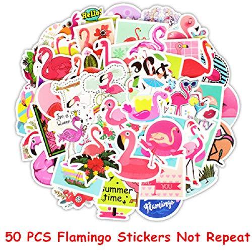 Multi-hema Graffiti-sticker, gepersonaliseerde auto, fiets, sticker, koffer, laptop, gitaar, sticker, skateboard, bagage, doodle, sticker, 50 stuks, flamingo
