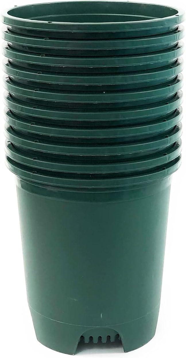 Brand new 3 Phoenix Mall Gallon 10-Pack Green Recycled Pots Nursery Planter Plastic wit