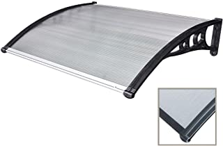 Tidyard-Pensilina 200x80 cm per Porta Nera e Trasparente Protezione Contro La Corrosione in policarbonato