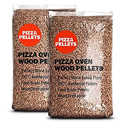 Wood Pizza Pellets - 10kg (2 x 5kg), hardwood pellets for all pizza ovens (food grade) by Pizza Oven Pellets