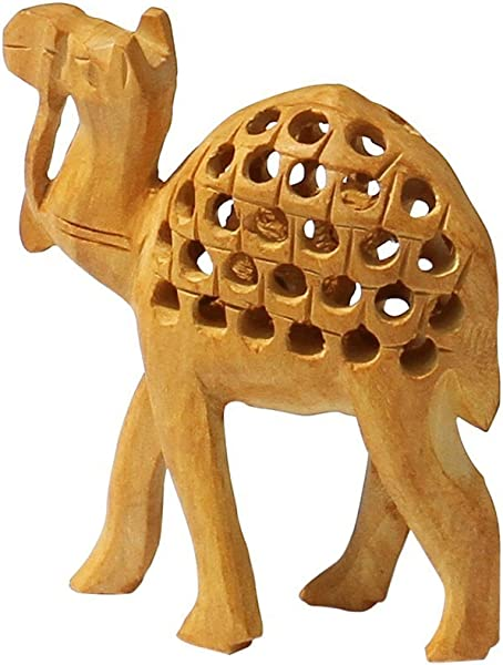Fortune Charm 4 1 Camel Figurine Hand Carved Wood Animal Figurines Of An Egyptian Mother Camel Statue Decorative Animal Statue Miniature Made From Single Block Of WoodGood Luck Gifts For Men Women