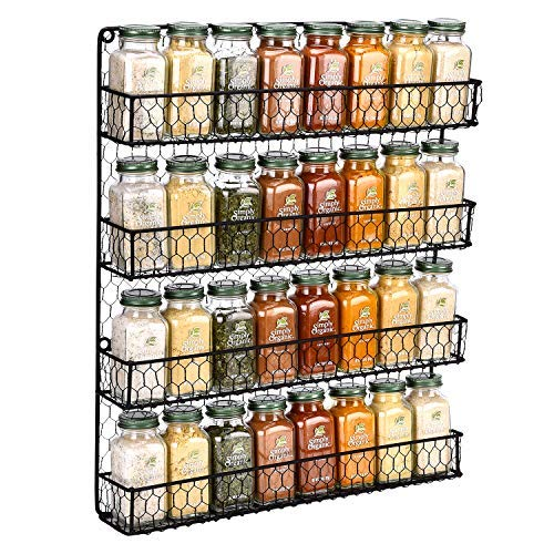 Spice Rack Wall Mounted Spice Rack Organizer Chicken Wire Rural Style Spice Organizer Spice Rack...