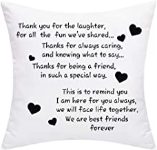 BLEUM CADE We are Best Friends Forever Friends Throw Pillow Cover Best Gifts to Friends Sister Cushion Cover Decorative Pillowcase for Sofa Car Home Office