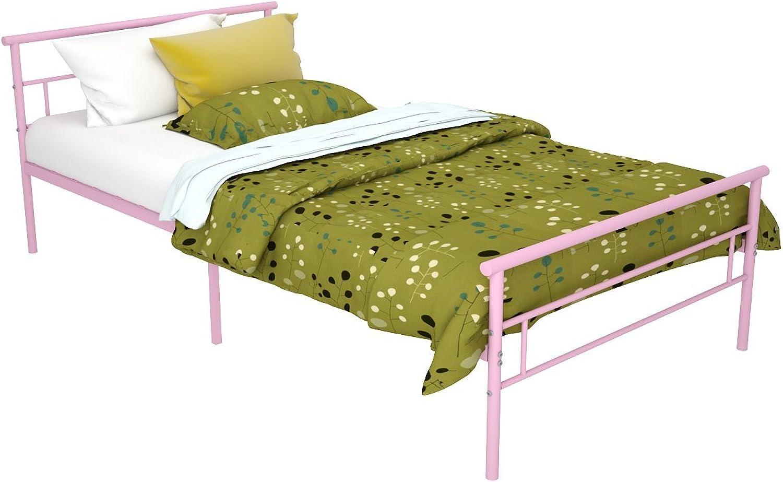 Rack Furniture Seattle Metal Twin Bed, Pink