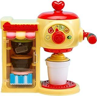 子供のコーヒーマシンのおもちゃ シミュレーション子供のカフェ 女の子のプレイハウスキッチンのおもちゃ ロールプレイング玩具セット 3-8歳の誕生日プレゼント (Color : Yellow, Size : 40*30*15cm)