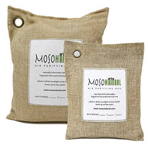 Check Out This MOSO NATURAL Air Purifying Bag. Bamboo Charcoal Air Freshener, Deodorizer, Odor Elimi...