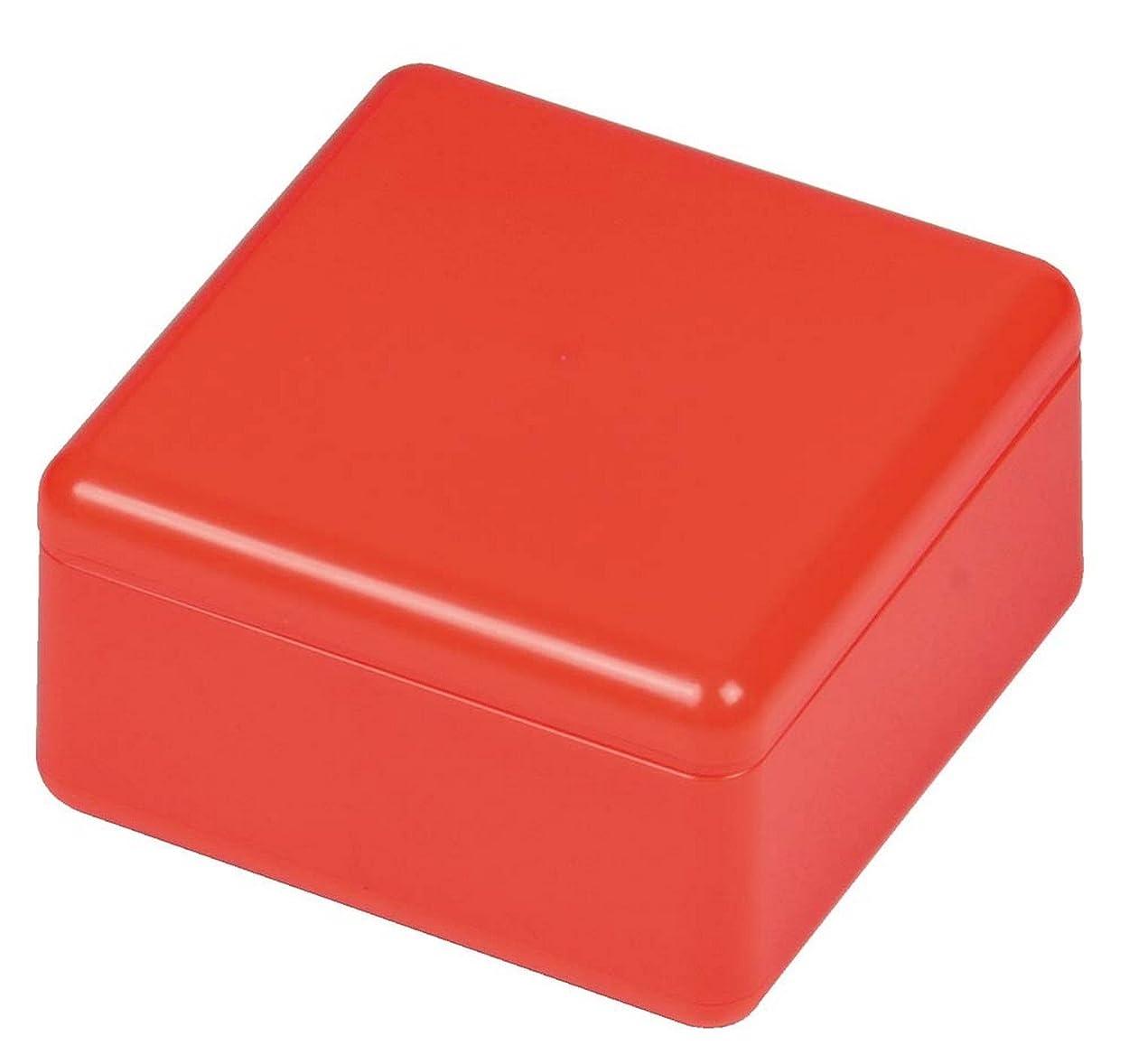手つかずの荒野父方のパール金属 おにぎらず Cube Box レッド 【日本製】 C-452