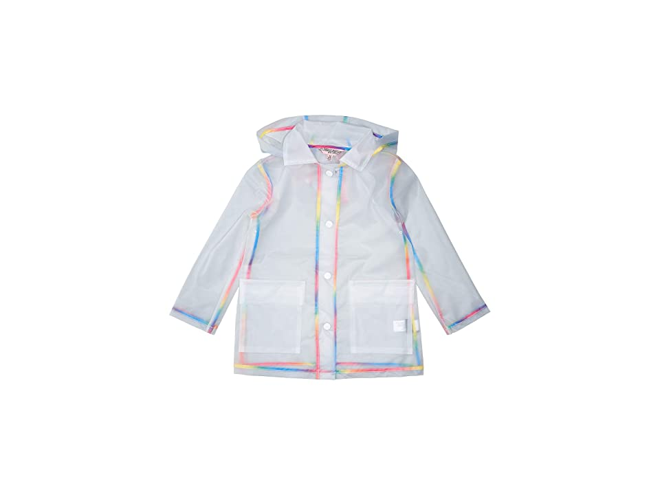 Urban Republic Kids Transparent Raincoat with Rainbow Piping (Little Kids/Big Kids) (Clear) Girl