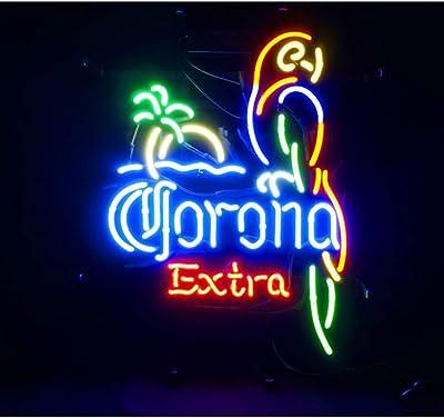 Corona ME013B - Cartel de luz de neón para bar, billar, casa ...