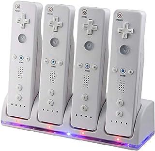 SANON 4 IN 1 Wii, Gamepad Controller Opladen dock 4 in 1 met 4 Oplaadbare Batterijen en LED-indicatoren