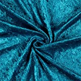 Ben Textiles Stretch Panne Velvet Velour Teal Fabric By The Yard