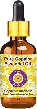 Deve Herbes Copaiba puro aceite esencial (Copaifera officinalis) con vidrio con gotero 100% de vapor natural de Grado Terapéutico destilada 15ml (0.50 oz)