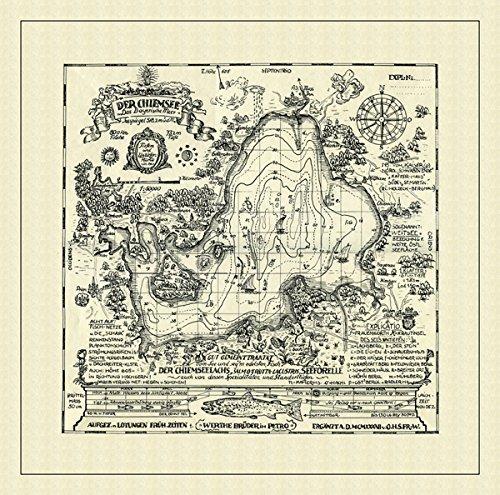 Antike Seekarte Chiemsee 1: 50.000