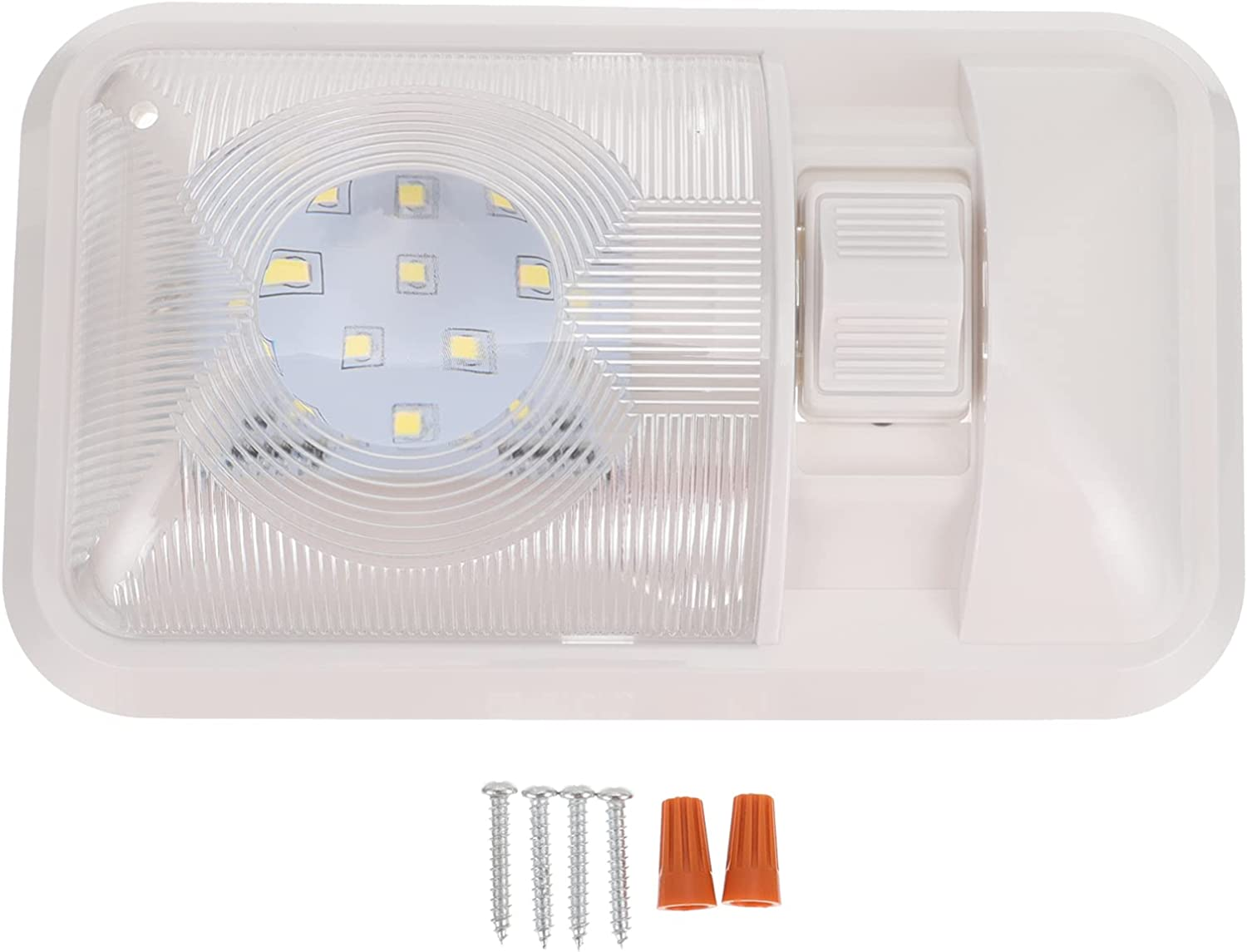 UKCOCO Free Shipping New RV Ceiling price Dome Light with Switc Interior LED Lighting