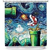 Dia Noche Designs - Cortinas de ducha de baño por Aja Ann - Van Gogh no niveladas