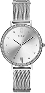 Guess W1154L1 analog Stainless Steel Dress Watch For Women - Silver