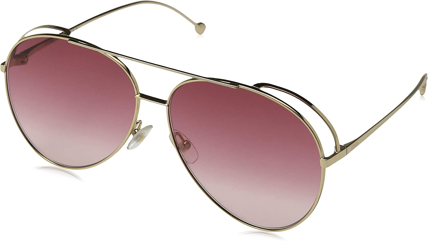 Fendi FF0286 S gold Pink Lens Sunglasses