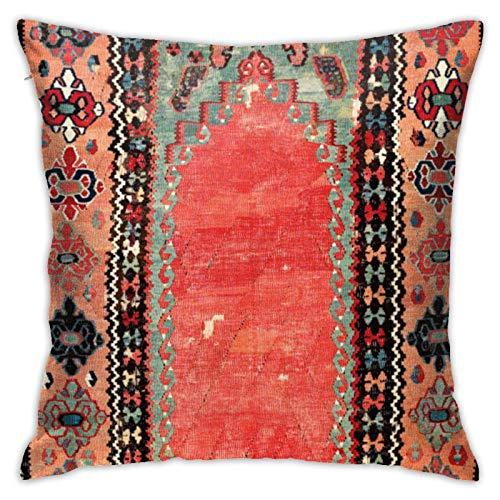Funda de Almohada de nicho Turco de Capadocia Antigua, Funda de Almohada Cuadrada, sofá Cama para el hogar, Funda de cojín Decorativa