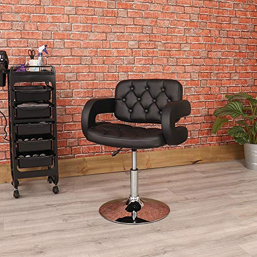 Wido BLACK BARBER CHAIR BEAUTY HAIRDRESSER SALON LEATHER STYLE