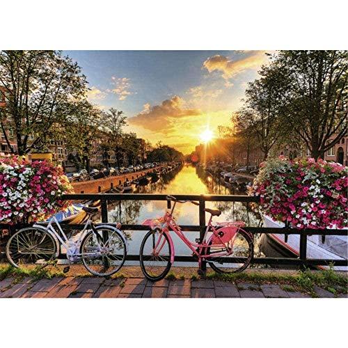Puzzel 500/1000 Stukjes Voor Volwassenen, Amsterdam Sunrise, Voor Kinderen En Volwassenen, Houten Gepersonaliseerde Puzzel Fun Game, Home Decoration
