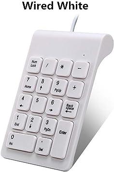 Teclado numérico Multifuncional 2.4GHz Wired NumPad 18 Keys ...