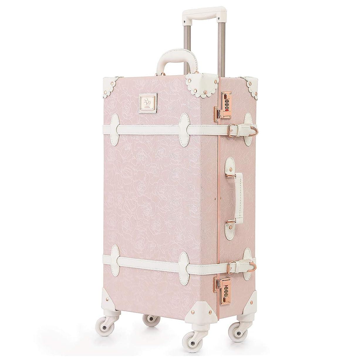 可愛い スーツケース クラシック トランク トランクケース ピンク 機内持込 キャリーケース かわいい 子供 女の子