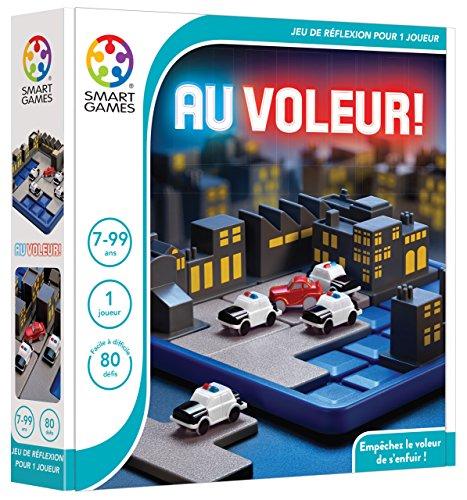 Smart Games - Road Block: Policías y Ladrones, Juego de ingenio con retos progresivos, versión española (SMG-0250)