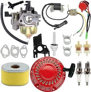 Venseri Carburetor Carb Kit + Ignition Coil + Recoil Starter + Air Fuel Filter for Honda GX140 GX 160 GX168 GX200 5HP 5.5HP 6.5HP Engine Motor Parts
