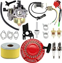 Venseri Carburetor Carb Kit + Ignition Coil + Recoil Starter + Air Fuel Filter for Honda GX140 GX 160 GX168 GX200 5HP 5.5HP 6.5HP Engine Motor Parts