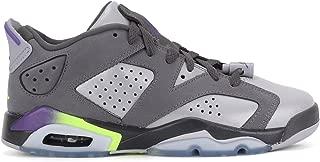 [768878-008] AIR Jordan AJ 6 Retro Low GG Grade School Sneakers AIR JORDANDRK Grey ULTRVLT WLF Grey GHST G GRIS FONCEM