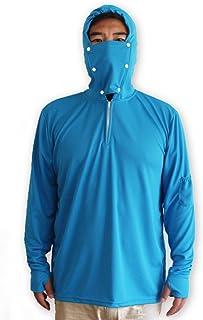 Venxic Men's Fishing Shirts for Men Long Sleeve uv Protection, Quick Dry Sun Shirt/w Thumb Hole