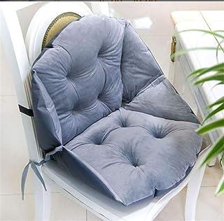 Marbeine - Cojín de silla suave con respaldo en forma de concha de terciopelo para silla de jardín y sillón (gris)