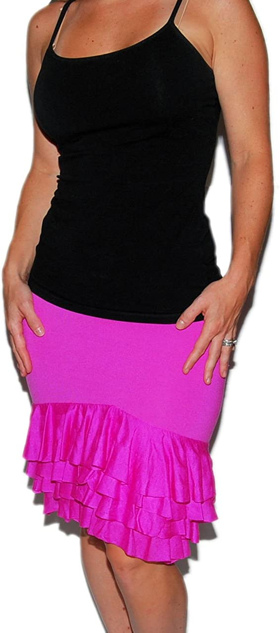 Ralph Lauren Polo Black Label Womens Silk Nylon Pink Ruffle Above Knee Mini Pencil Skirt