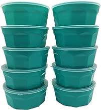 Jogo com 10 Potes de plástico para marmita emagrecer Verde