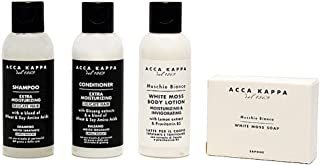Acca Kappa White Moss Body Lotion, Shampoo, Conditioner & Soap Travel & Gift Set