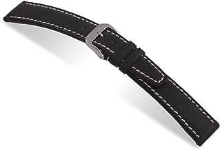 RIOS1931 Havana - Genuine Pigskin Leather Watch Band with White Stitching 114x82