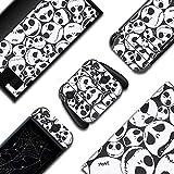 BelugaDesign Skulls Switch Skin | Gothic Sticker Wrap Vinyl Decal | Nightmare Halloween Horror | Compatible with Nintendo Switch (Switch Standard, Black White)