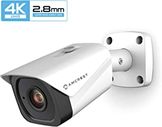 Amcrest UltraHD 4K (8MP) Outdoor Bullet POE IP Camera, 3840x2160, 131ft NightVision, 2.8mm Lens, IP67 Weatherproof, MicroSD Recording, White (IP8M-2496EW-28MM)