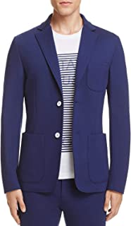 Z Zegna Mens Slim Fit Unlined Techno Jersey Knit Jacket 44 Regular IT54 Navy