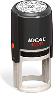 Round Notary Stamp for State of Washington | Self Inking Unit - Trodat Manufactured Ideal 400r with Advanced Durability