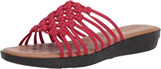 Easy Street womens Sandal,Red,5.5 M US